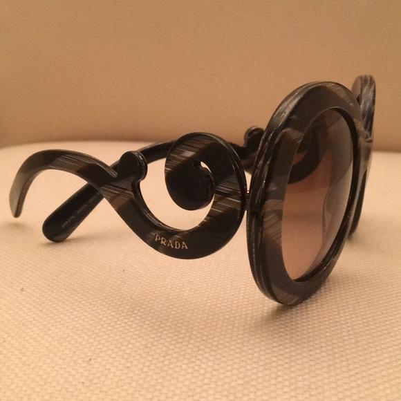 ec57846e235 Prada Baroque Swirl Round Sunglasses. M 5a4f0470fcdc310a4a012521